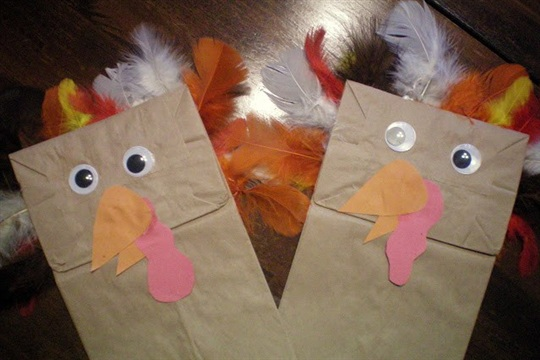 Kids Craft Turkey Puppets Plus Giveaway!