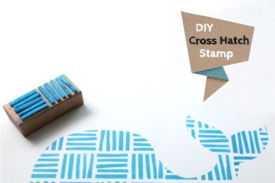 DIY Cross Hatch Stamp