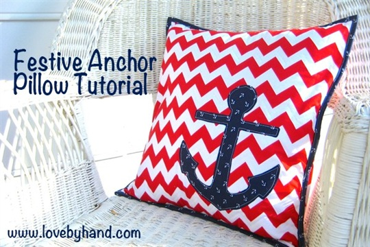 Fast and Easy Anchor Pillow Tutorial