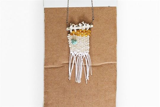 Gold Leaf Woven Necklace