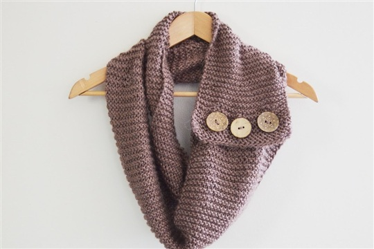 P.s.diy buttoned up infinity scarf