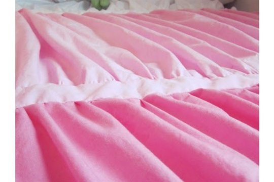 DIY Ombre Ruched Duvet Cover