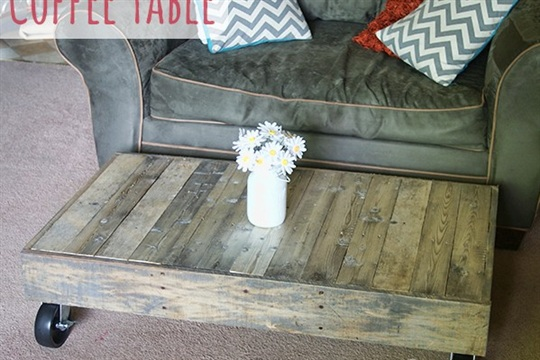 Shipping Pallet to Coffee Table and Finishing Tips