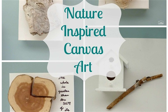 {Guest Post} Simple Nature Inspired Canvas Wall Art