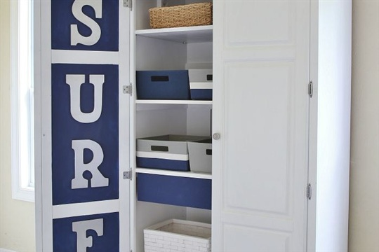 Chalk Paint Armoire Makeover