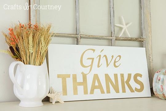 DIY Give ThanksFall Sign