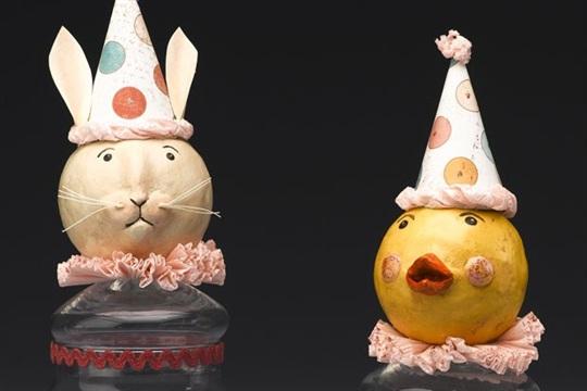 DIY springtime Bunny and Chick Candy Jars