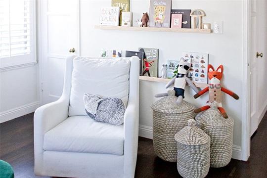 Sarah Sherman Samuelthe perfect white & DIY nursery shelves