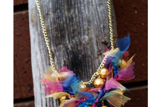 Anthro Pretty Pinking Knockoff Necklace