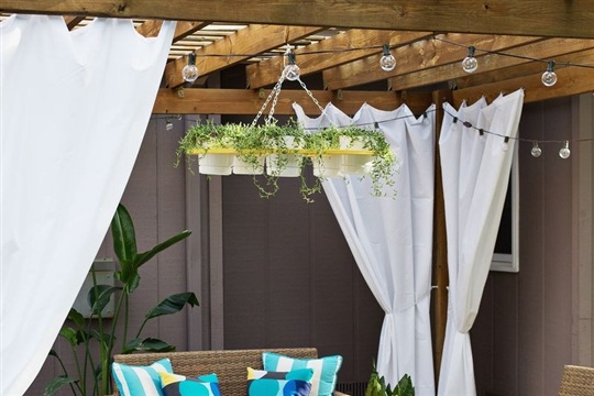 Make Your Own Outdoor Plant Chandelier