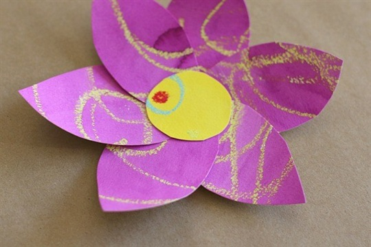Spring Crafts for Kids Colorful Watercolor Flowers