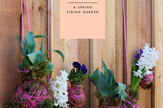 DIY A Spring String Garden