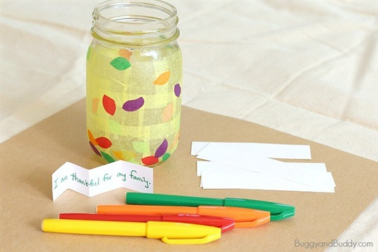Thanksgiving Crafts and Activities for Kids Thankful Jar