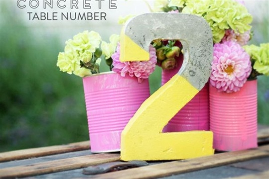 How To Make Original Table Numbers For A Unique Wedding