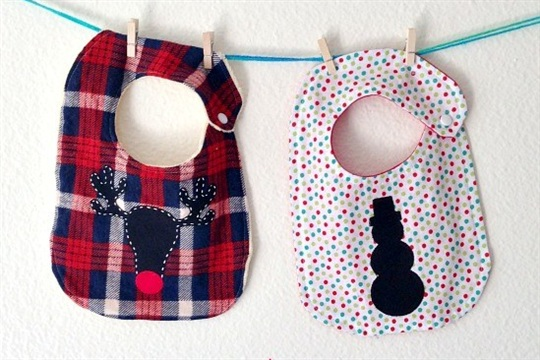 Christmas Baby Bib So Sew Easy