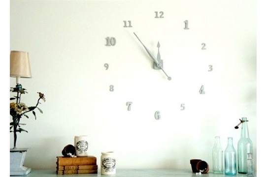 Ingenious DIY Wall Clock of House Numbers