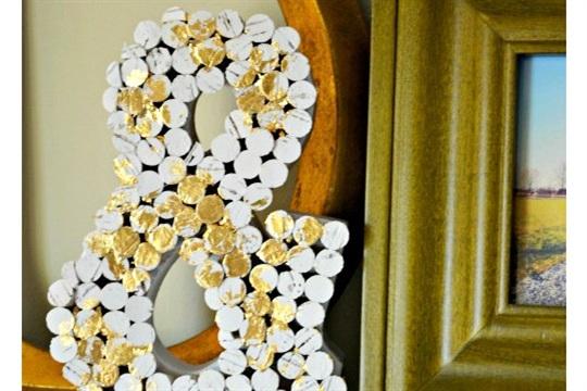 Cork Craft Idea Paper Mache Ampersand Decoration