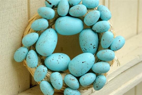 Spring Wreath DIY Robin's Eggs