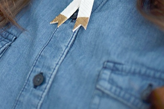 DIY Gold and Leather Bolo Necklace I Still Love You by Melissa Esplin