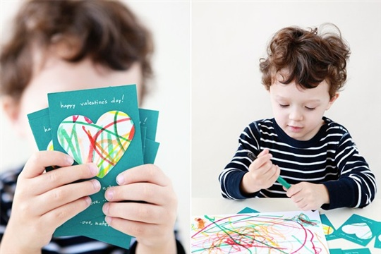 DIY Valentine's Day Cards for Little Ones