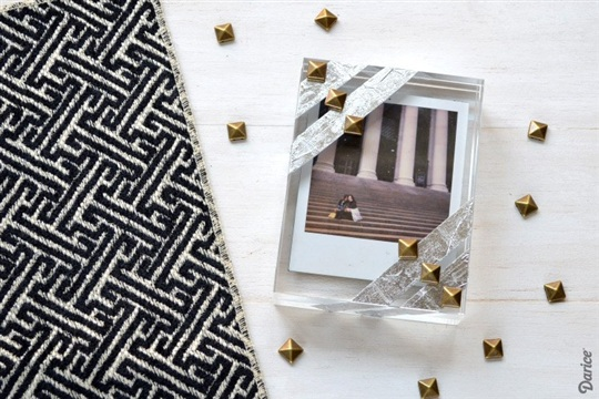 DIY Photo Frame Studded Block Frame