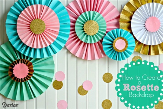 How To Make Paper Rosettes Birthday Backdrop