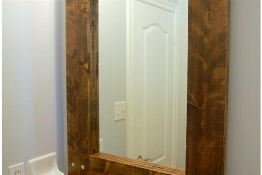 DIY Rustic Mirror (and a half bath update)