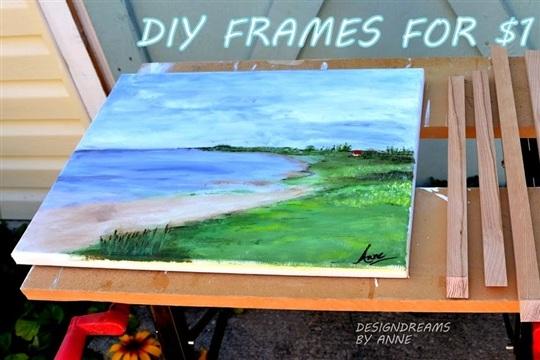 $1 DIY Chunky Wood Frames