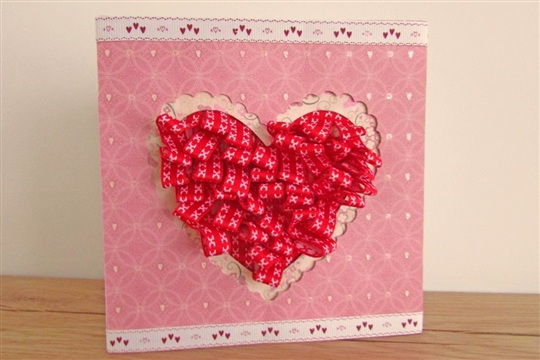 How to Make a Pleated Ribbon Valentines Card