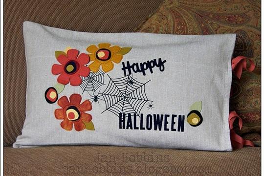 Halloween Pillow Cover Jan Hobbins