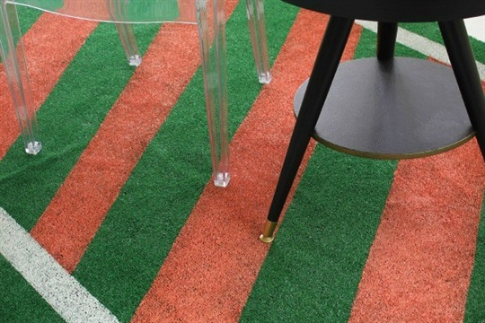 DIY Painted Astroturf Rug Perfect for Summer Events
