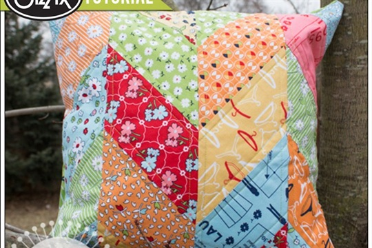 Chevron Pillow Cover Tutorial by Karrie Winters