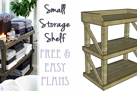 DIY Small Open Shelf Building Plan