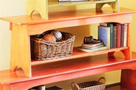 Stacked Bench Bookshelf
