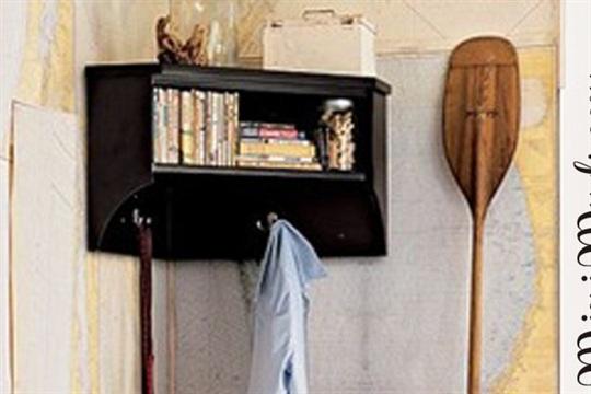 DIY Corner Shelf with Storage
