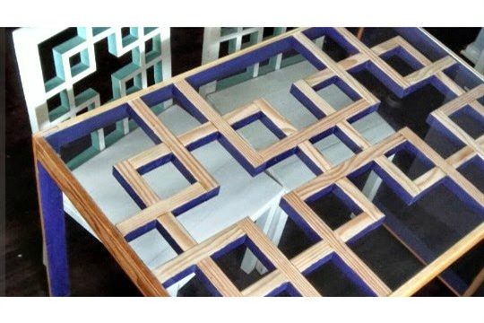 DIY Tutorial Modern Dining Table with Lattice Style Square Motif