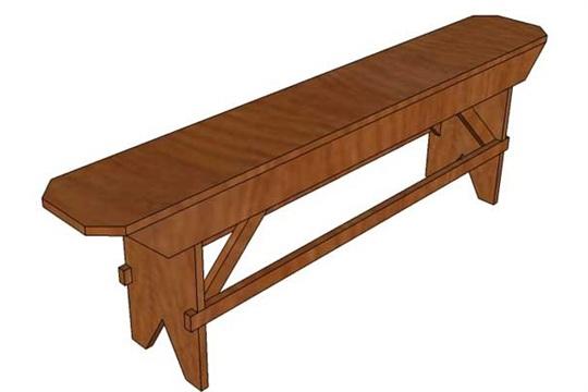 How to Build a Primitive Farmhouse Bench