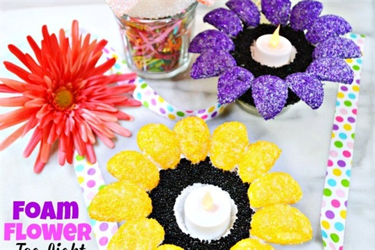 Foam Flower Tea Light Holders