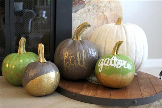 DIY Painted Pumpkins for Fall
