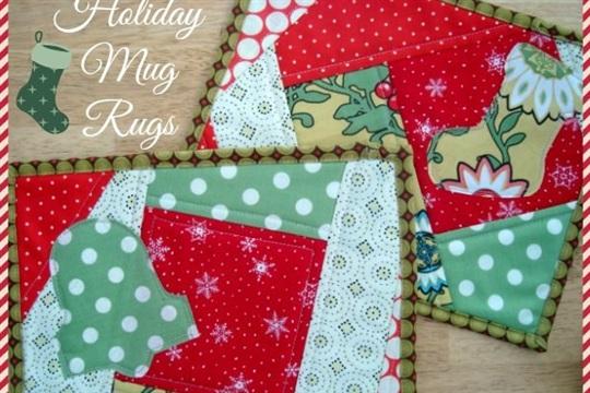 Quilt as You Go Holiday Mug Rugs