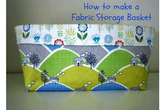 Fabric Storage Basket Tutorial