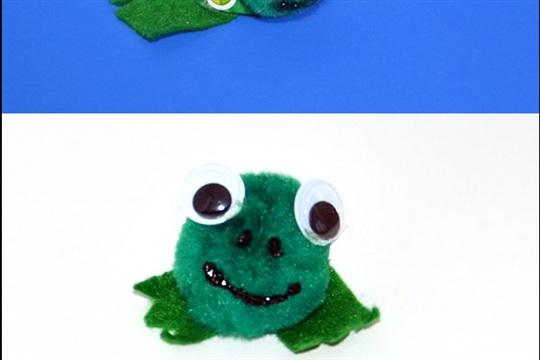 Pom Pom Frog and Turtle Crafts