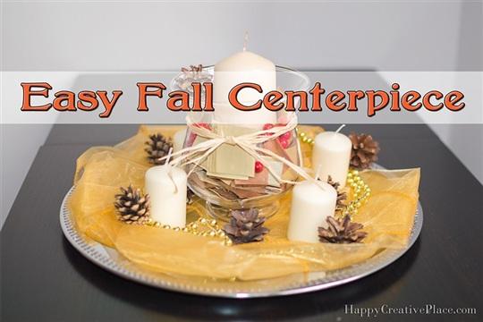 Easy Fall Centerpiece