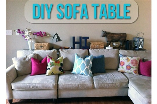 DIY Sofa Table Let's Get Crafty!