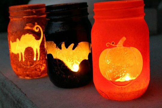 Halloween Mason Jar Luminaries Page 2 of 2