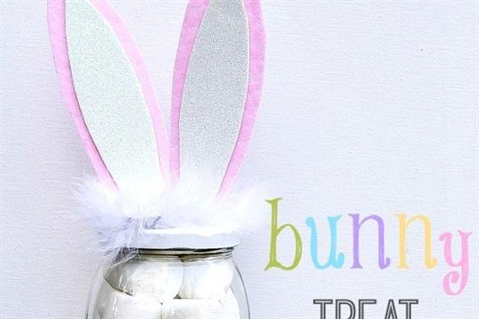 Easter Crafts DIY Bunny Jar