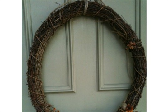 How to do it yourself Upcycled Fall Wreath