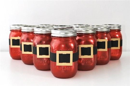 Mini Makeover Santa Mason Gift Jars