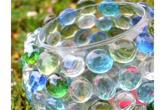 DIY Jeweled Candle Holder