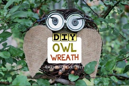 DIY Repurposed Owl Wreath {+ Bad Owl Puns}
